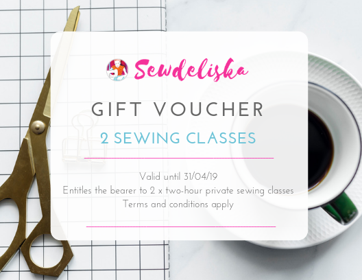 Got Voucher for Sewing Lessons