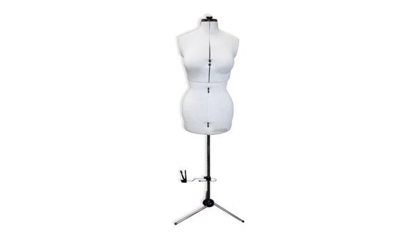 White adjustable dress form dummy