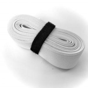white braided elastic