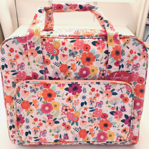 Floral sewing machine carry case